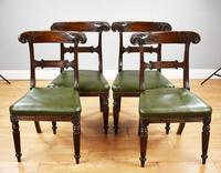 Set of 4 William IV Mahogany Dining Chairs