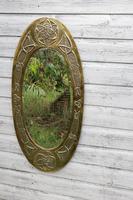 Arts & Crafts Movement Scottish / Glasgow School Large Oval Wall Mirror c.1900 (4 of 28)