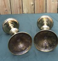 Pair of Arts and Crafts Brass Altar / Church Candlesticks (5 of 5)