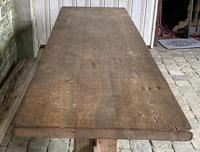 Huge French Bleached Oak Farmhouse Refectory Dining Table (8 of 11)
