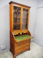 George III Inlaid Mahogany Cylinder Cabinet Bookcase (14 of 17)