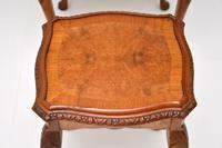Queen Anne Style Burr Walnut Nest of Tables (5 of 8)