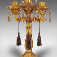 Pair of Antique Candelabra, English, Glass, Candle Stand, Victorian c.1890 (10 of 12)