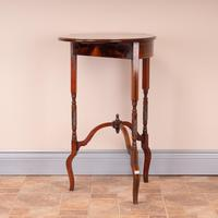 Edwardian Inlaid Rosewood Drop Leaf Occasional Table (12 of 23)