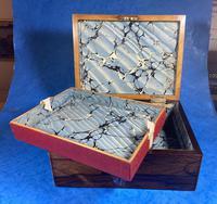George III Rosewood Tunbridge Ware Box with Specimen Wood Inlay (14 of 15)