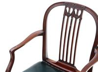 Set of 10 (8+2) mahogany dining chairs 19th Century (11 of 11)