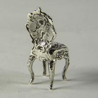 Victorian Miniature Silver Chair with Cherubs (2 of 8)