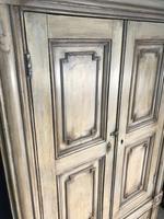 Pine Barrel Back Corner Cupboard in Original Paint (7 of 18)