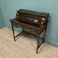 Spectacular Quality Victorian Rosewood Inlaid Antique Writing Desk (6 of 12)