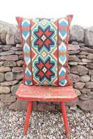 Swedish 'Folk Art' Vintage Large Woven Röllakan Cushion c.1930 (7 of 26)