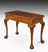 Mid 18th Century Mahogany Irish Card Table on Carved Cabriole Supports