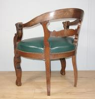 Carved Oak Victorian Desk Chair (4 of 9)