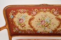 Antique French Needlepoint Salon Two Seater Sofa (12 of 12)
