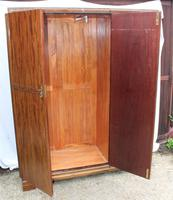 1940s Large 3 Door Mahogany Wardrobe with Good Interior (4 of 4)