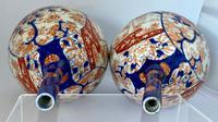 Pair of Imari Bottle Vases c.1900 (6 of 6)