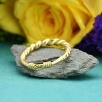 The Ancient Viking Era Gold Twisted Wedding Band (2 of 3)