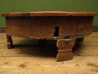 Antique Carved Indian Chakki Table Coffee Table with Lid (8 of 14)