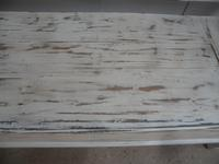 Shabby Chic White 3 Seater Antique Pine Kitchen/ Hall Box Settle / Bench (9 of 10)
