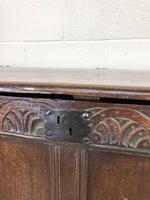 Antique Carved Oak Coffer (5 of 13)