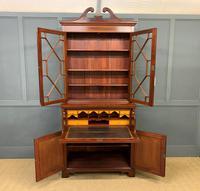 Edwardian Inlaid Mahogany Secretaire Bookcase (4 of 21)