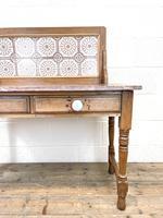 Antique Pine Tile Back Washstand (3 of 15)