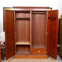 Wardrobe Walnut Mirrored Compactum Armoire Victorian (5 of 5)