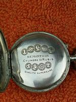 Antique Silver .800 Remontoir Cylindre 10 Rubis Case with Medusa Movement (3 of 6)