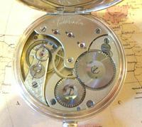 Antique Omega Labrador Pocket Watch 1912 15 Jewel 10ct Rose Gold Filled Case FWO (11 of 12)