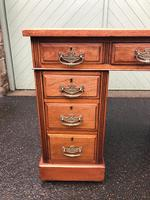 Antique Walnut Pedestal Writing Desk (pri) (7 of 10)
