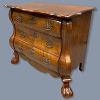 19th Century Dutch Walnut Chest of Drawers (4 of 10)