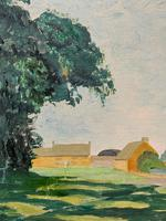 Exquisite Original Early 20th Century Impressionist Farmland Landscape Oil Painting (7 of 12)