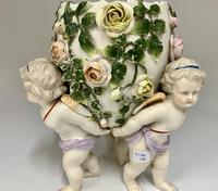 Antique Volkstedt Porcelain Vase c.1875 (2 of 6)
