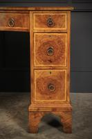 Queen Anne Style Burr Walnut Concave Writing Desk (16 of 18)