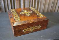 Antique Religious Walnut & Brass Box (2 of 6)