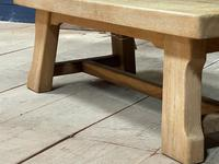French or Scandinavian Bleached Oak Coffee Table (8 of 15)
