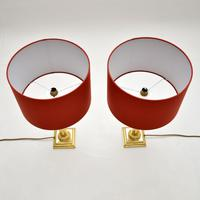 Pair of Vintage Solid Brass Table Lamps (8 of 8)