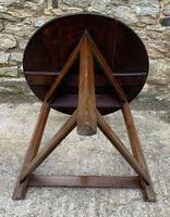 Antique Georgian Oak Cricket Table (5 of 15)