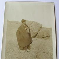Original Large Middle East Photograph of A Shepherd in Iran c.1930 (2 of 3)