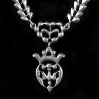 Antique Victorian French Saint Esprit Paste Necklace Sterling Silver Circa 1850 (4 of 8)
