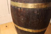 Georgian Oak Brandy Barrel. Stick Stand. Lamp Table (7 of 11)