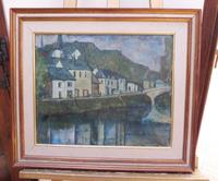 Oil on Canvas Laid on Board by the River Loire Listed Artist John Denahy (7 of 10)