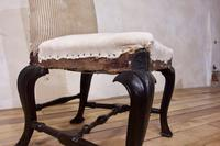 18th Century Ebonised & Upholstered Queen Anne Side Chair (5 of 13)