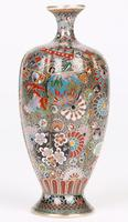 Oriental, Chinese / Japanese Exceptional Silver Metal Cloisonne Vase (13 of 25)