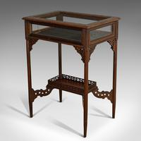 Antique Bijouterie Table, English, Walnut, Glass, Display, Edwardian c.1910 (9 of 12)