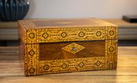 Figured Walnut Tunbridge Ware Box c.1880 (6 of 11)