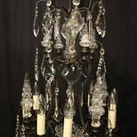 French Bronze & Crystal 8 Light Cage Chandelier (7 of 10)