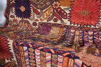 Large Mid 20th Century Colourful Flat Weave Woolen Rug (13 of 15)