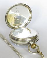 Antique Silver Marks Pocket Watch & Chain (5 of 5)
