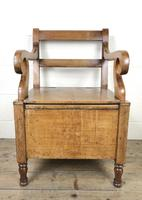 19th Century Oak Armchair Commode (3 of 10)