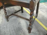 Oak Framed Barley Twist Elbow Chair (3 of 3)